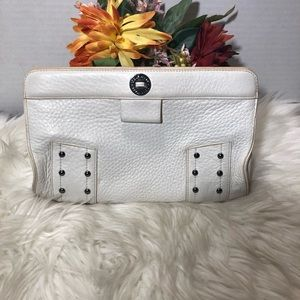 Cole Haan White Village Collection Make-up Bag